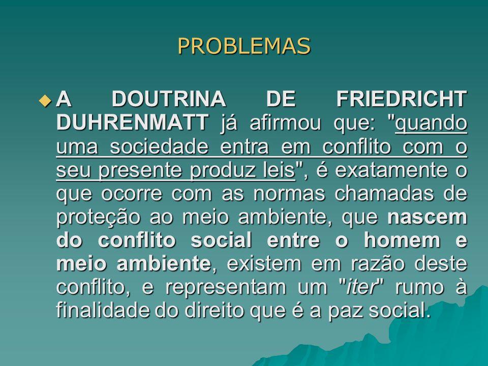 PROBLEMAS A DOUTRINA DE FRIEDRICHT DUHRENMATT já afirmou que: