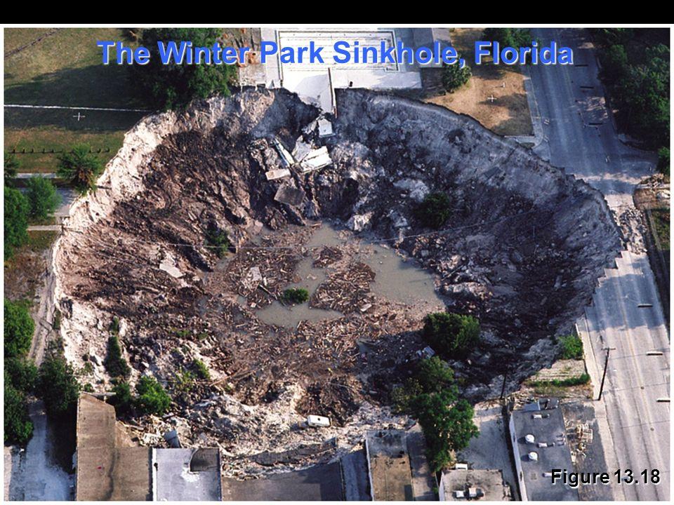 Figure 13.18 The Winter Park Sinkhole, Florida