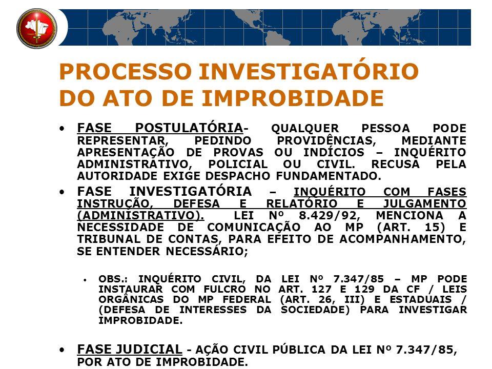 SUJEITO ATIVO: QUALQUER AGENTE PÚBLICO, EM QUALQUER NÍVEL DA ADMINISTRAÇÃO - SERVIDOR PÚBLICO OU QUALQUER PARTICULAR QUE EXERÇA FUNÇÃO PÚBLICA.