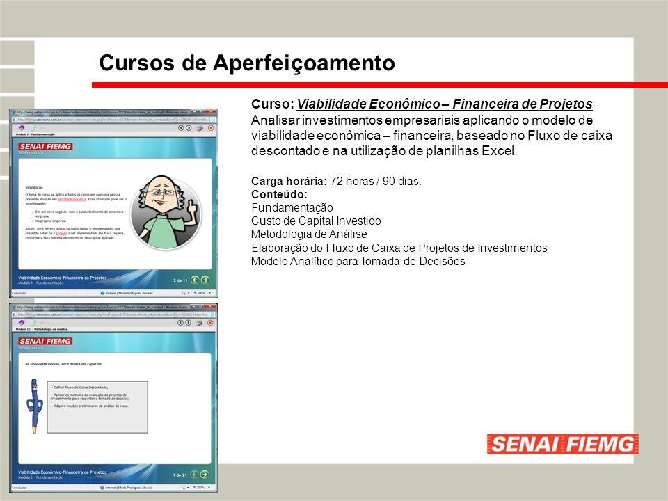 Curso: Viabilidade Econômico – Financeira de Projetos Analisar investimentos empresariais aplicando o modelo de viabilidade econômica – financeira, ba