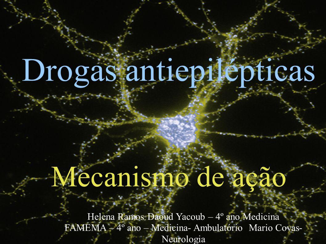 Anticonvulsivantes Mecanismo de Ação Helena Ramos Daoud Yacoub – 4º ano Medicina Drogas antiepilépticas Mecanismo de ação Helena Ramos Daoud Yacoub –