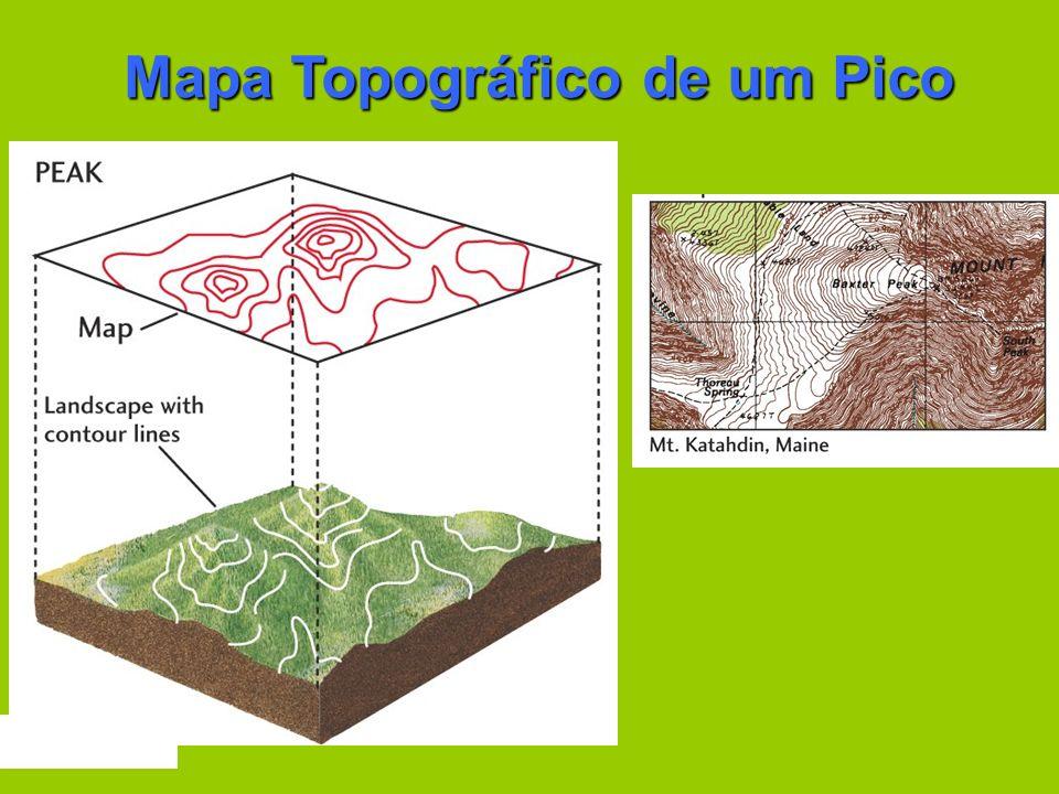 Mapa Topográfico de um Pico