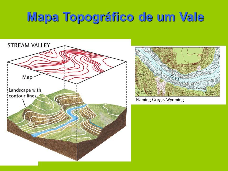 Mapa Topográfico de um Vale