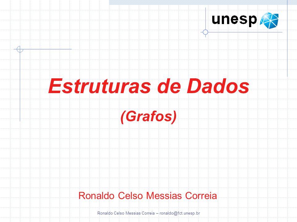 Ronaldo Celso Messias Correia – ronaldo@fct.unesp.br Ronaldo Celso Messias Correia Estruturas de Dados (Grafos)