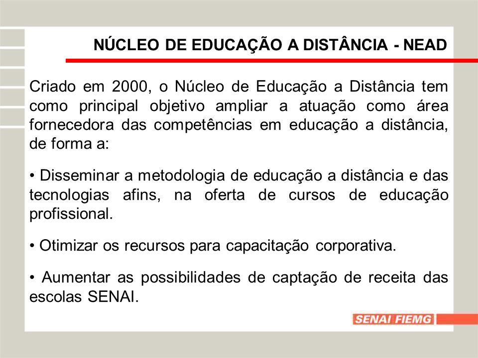 NÚCLEO DE EDUCAÇÃO A DISTÂNCIA - NEAD Criado em 2000, o Núcleo de Educação a Distância tem como principal objetivo ampliar a atuação como área fornece