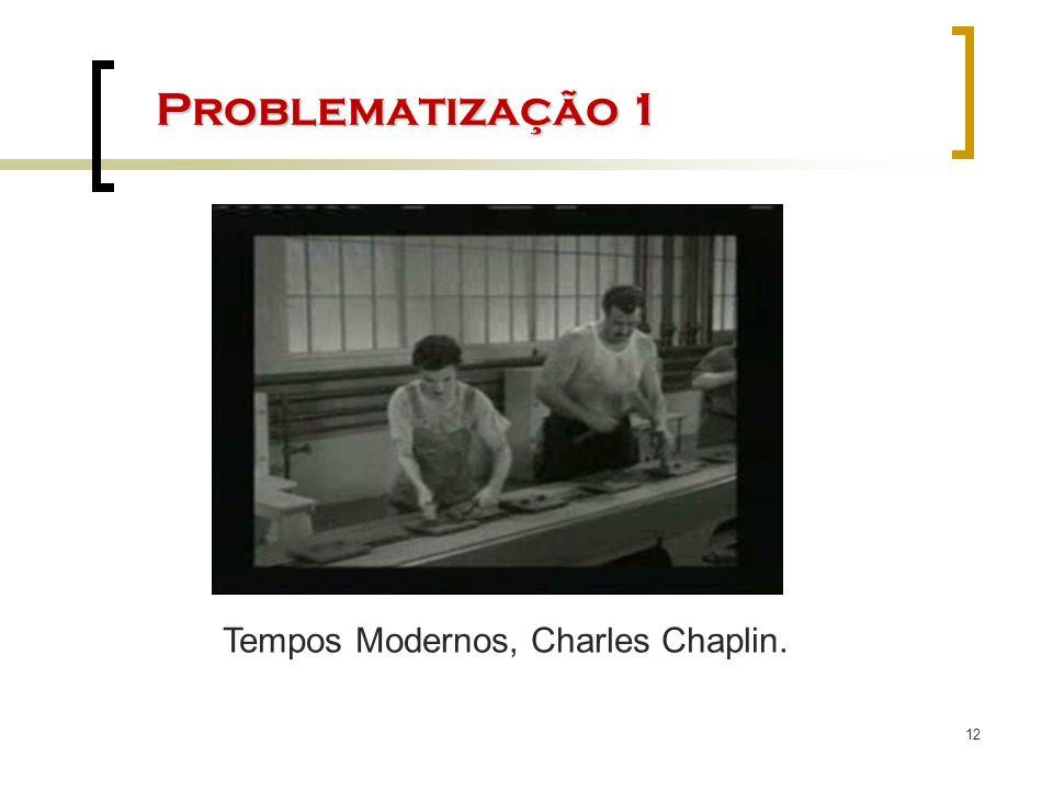 12 Problematização 1 Tempos Modernos, Charles Chaplin.