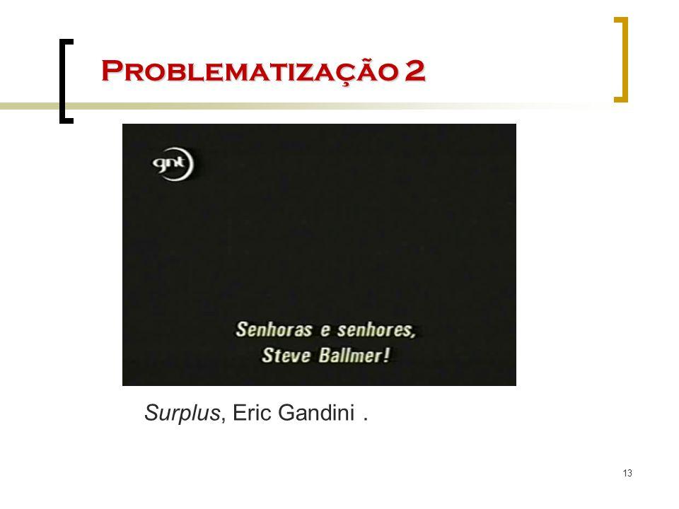 13 Problematização 2 Surplus, Eric Gandini.