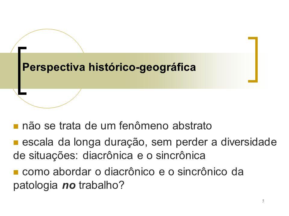5 Perspectiva histórico-geográfica não se trata de um fenômeno abstrato escala da longa duração, sem perder a diversidade de situações: diacrônica e o