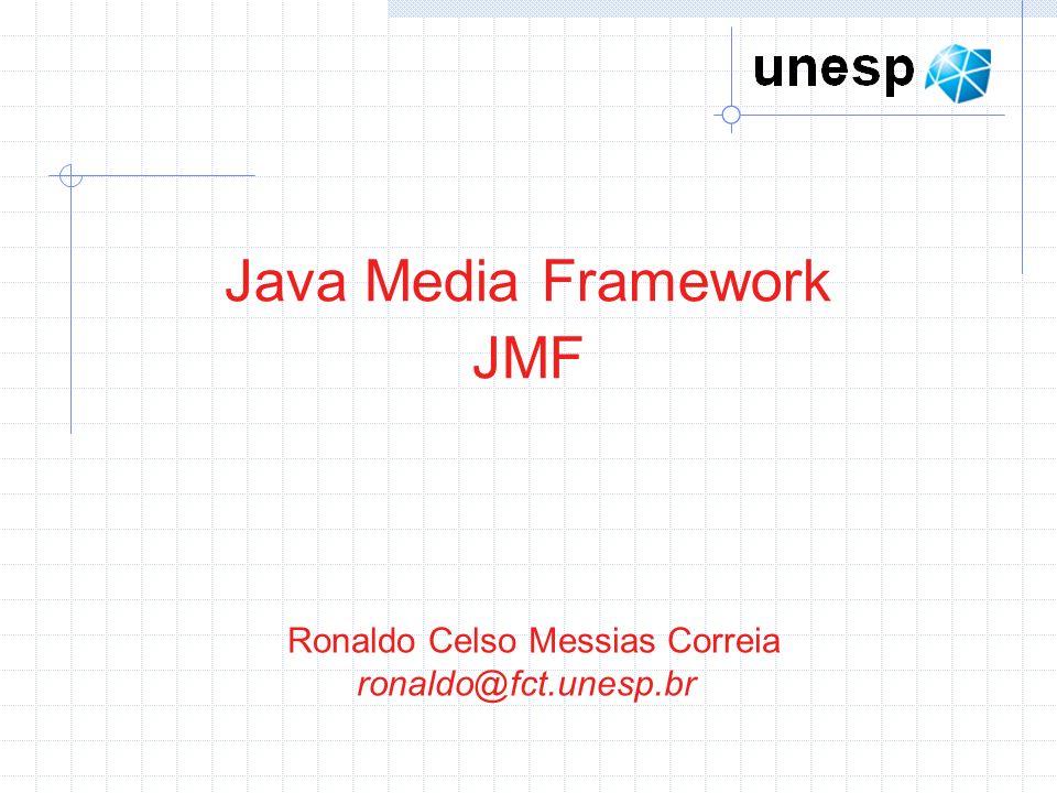 Exemplo 3: Envia pacotes de áudio em tempo real // estabelece o tipo do conteúdo processado (Quatro constantes da classe ContentDescriptor estão disponíveis: (RAW, RAW_RTP – estão relacionados á forma de utilização de buffers), (MIXED – corresponde às mídias misturadas, de mais de um DataSource), CONTENT_UNKNOWN – refere-se a conteúdo desconhecido) processor.setContentDescriptor(new ContentDescriptor (ContentDescriptor.RAW)); // Retorna um array do tipo TrackControl, que tem a indicação de mídias(trilhas) presente na fonte TrackControl track[] = processor.getTrackControls(); // estabelece que a mídia do arquivo será codificada em MPEG_RTP track[0].setFormat(new AudioFormat(AudioFormat.MPEG_RTP)); processor.realize(); while (processor.getState() != Processor.Realized) { Thread.sleep(100); } // dados já processados DataSource sourceFinal = processor.getDataOutput(); // endereço e porta para onde o fluxo de áudio será enviado String url = rtp://200.145.185.187:5530/audio ; MediaLocator destino = new MediaLocator(url); // DataSink é utilizado para transmitir o áudio já processado e configurado DataSink sink = Manager.createDataSink(sourceFinal, destino);