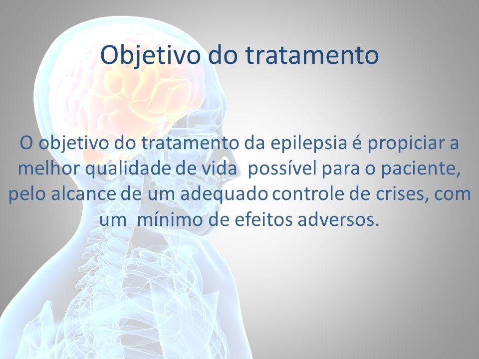 Objetivo do tratamento O objetivo do tratamento da epilepsia é propiciar a melhor qualidade de vida possível para o paciente, pelo alcance de um adequ