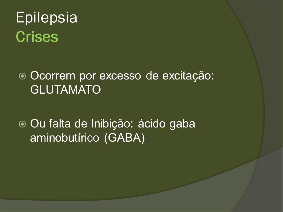 Epilepsia Crise Focal ou Parcial Simples: motora, sensitiva, visual Complexa: comprometimento da consciência