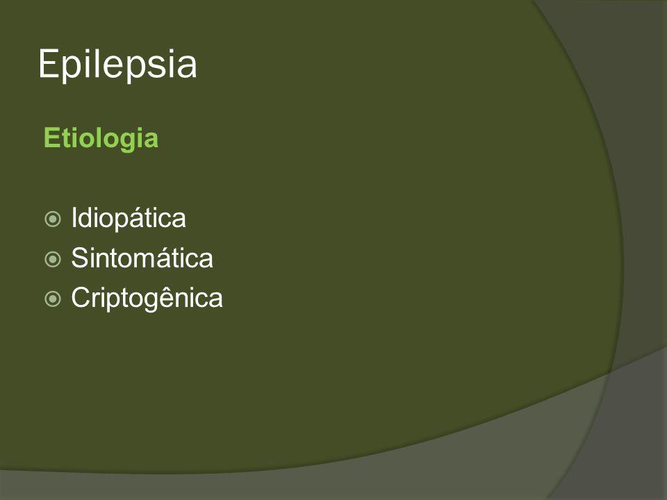 Epilepsia Sintomática Esclerose mesial temporal (EMT) Tumores SNC Malformações vasculares Abscessos Doença neuroinfecciosa Pós AVE