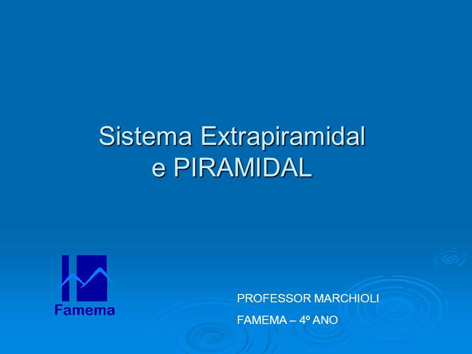 Sistema Extrapiramidal e PIRAMIDAL PROFESSOR MARCHIOLI FAMEMA – 4º ANO