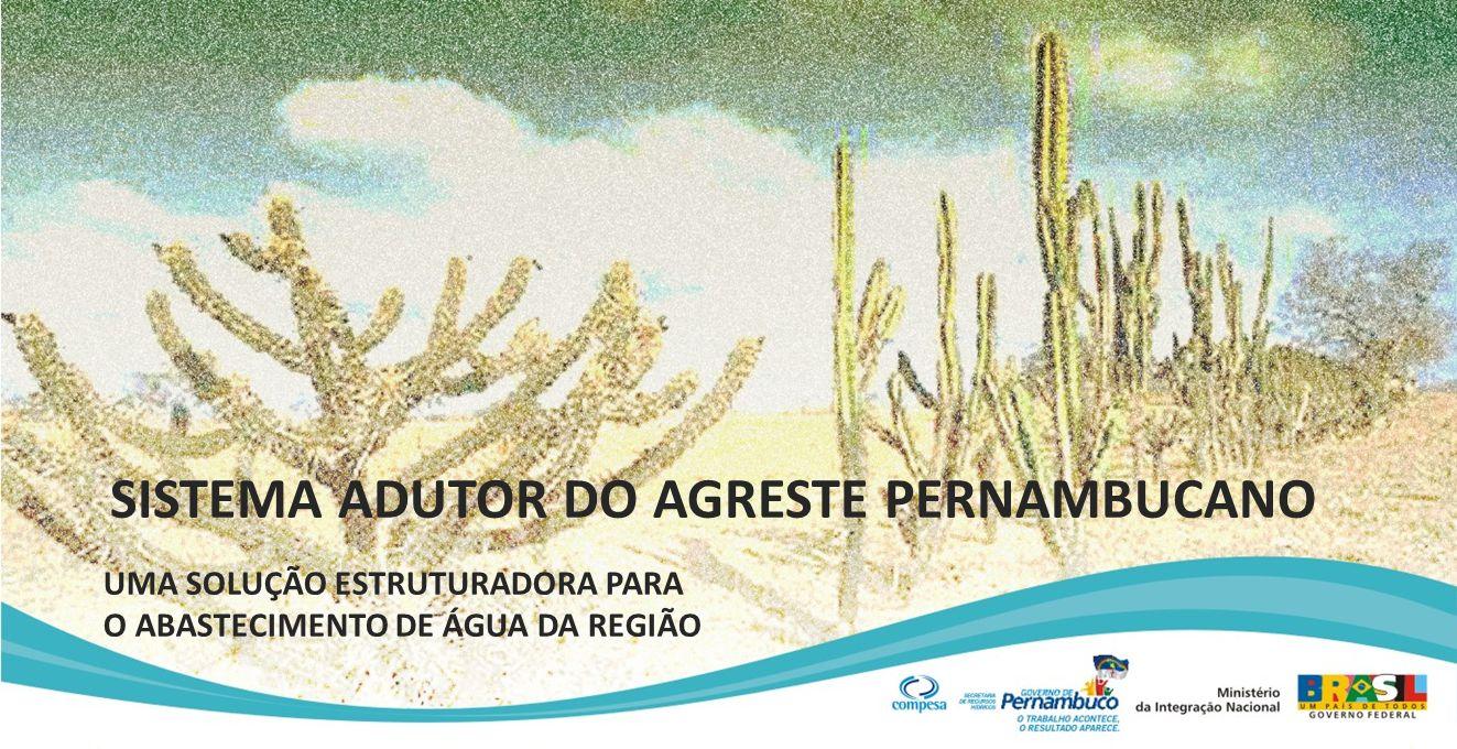 SISTEMA ADUTOR DO AGRESTE PERNAMBUCANO UMA SOLUÇÃO ESTRUTURADORA PARA O ABASTECIMENTO DE ÁGUA DA REGIÃO