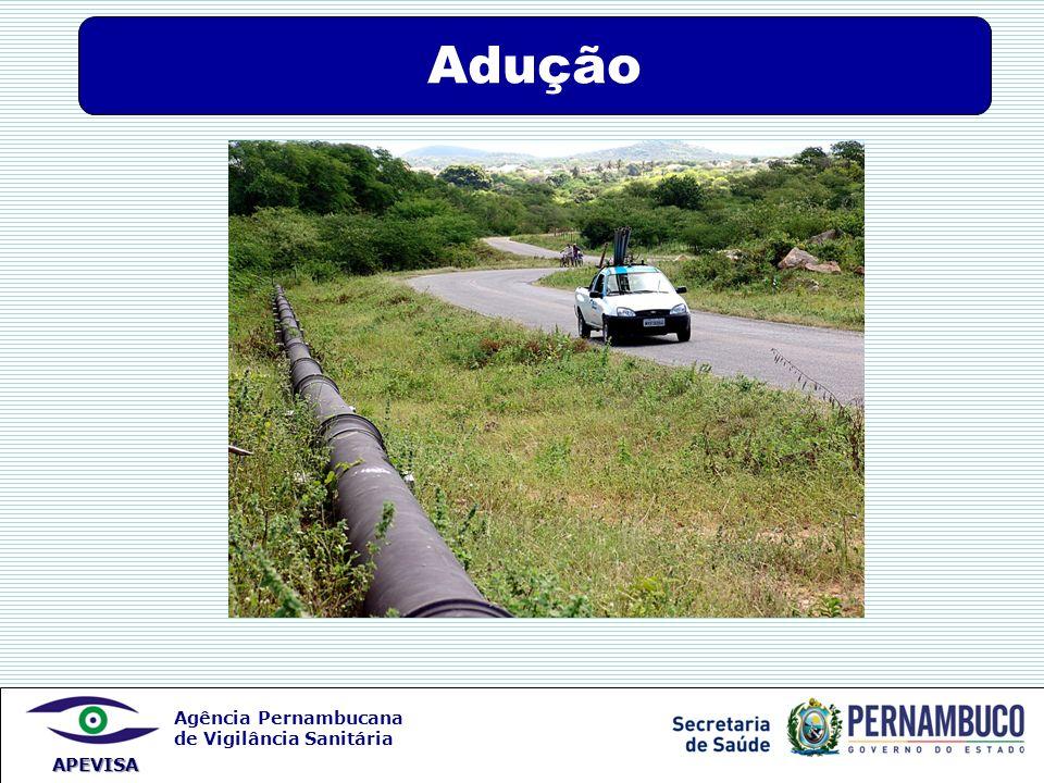 Agência Pernambucana de Vigilância Sanitária APEVISA Adução