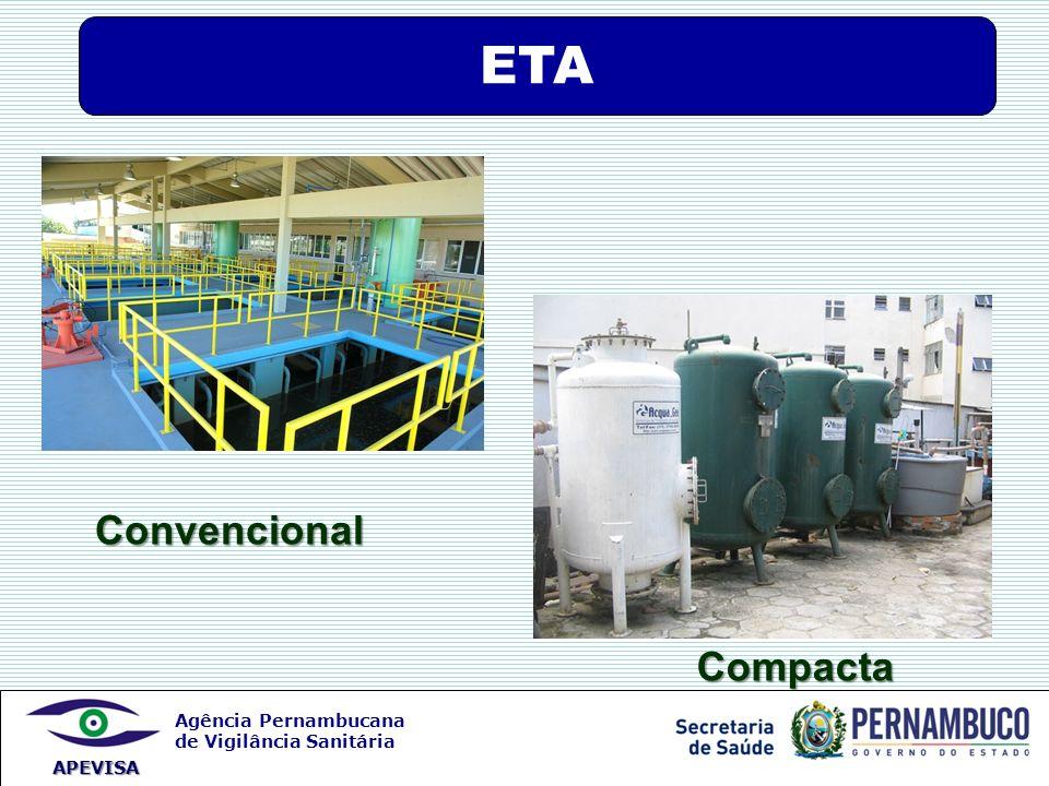 Agência Pernambucana de Vigilância Sanitária APEVISA Convencional Compacta ETA