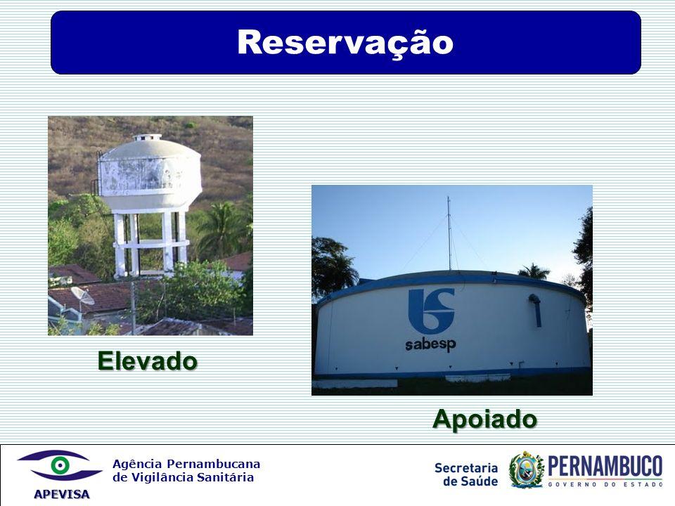 Agência Pernambucana de Vigilância Sanitária APEVISA Elevado Apoiado Reservação