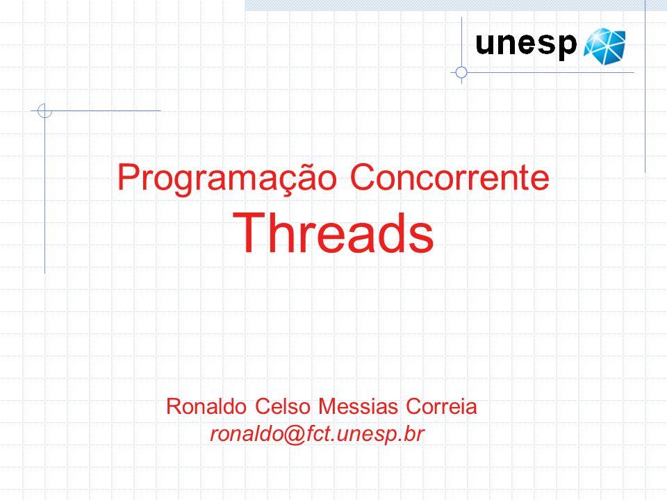 Ronaldo Celso Messias Correia ronaldo@fct.unesp.br Programação Concorrente Threads