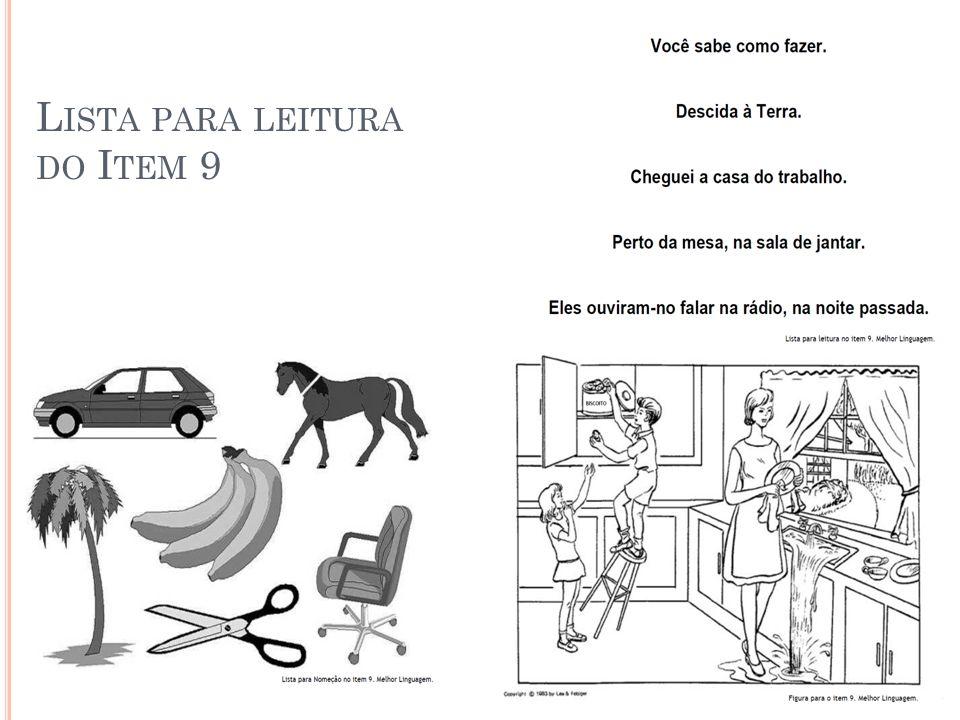 L ISTA PARA LEITURA DO I TEM 9