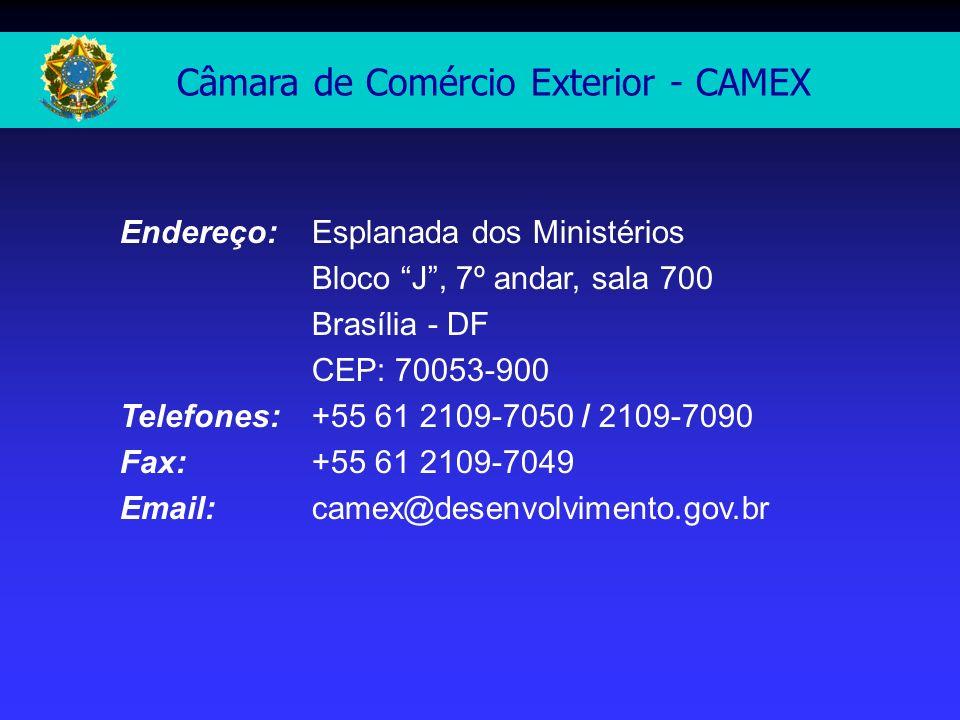 Endereço: Esplanada dos Ministérios Bloco J, 7º andar, sala 700 Brasília - DF CEP: 70053-900 Telefones: +55 61 2109-7050 / 2109-7090 Fax: +55 61 2109-