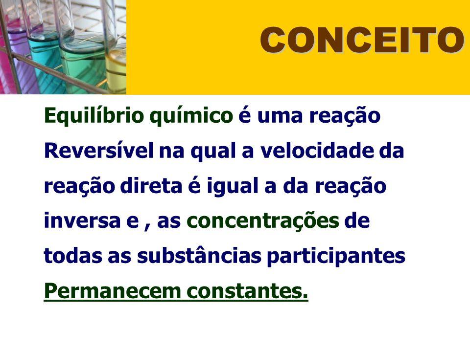 Concentração: Dada a reação: N 2 O 4(g) ==== 2 NO 2(g) Seguir a Lei de Le Chatelier: Retirar um dos participantes = Produzir mais (Desloca para o mesmo lado) Aumentar a concentração = Consumir (Desloca para o lado oposto).