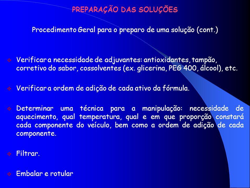 HIDRÓLEOS Classificação dos Hidrólitos 1.