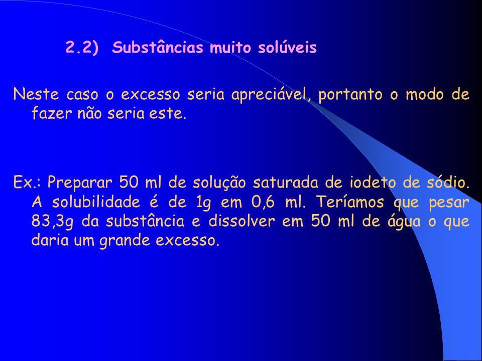 Sugerimos a preparação da substância em dois passos: 1º passo 1º passo: dissolvemos 20 g de iodeto em 12 ml de água, medindo-se o volume final da solução que seria suponhamos 16,8 ml.