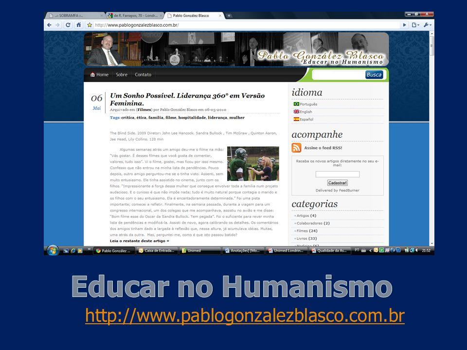 Blasco PG. Medicina de familia & cinema: recursos humanísticos na educação médica. São Paulo: Casa do Psicólogo; 2002. Ethics and Human Values. Blasco