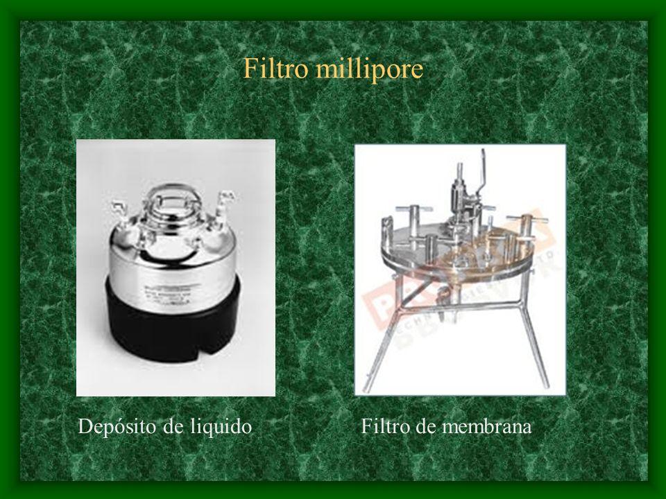 Filtro millipore Depósito de liquidoFiltro de membrana