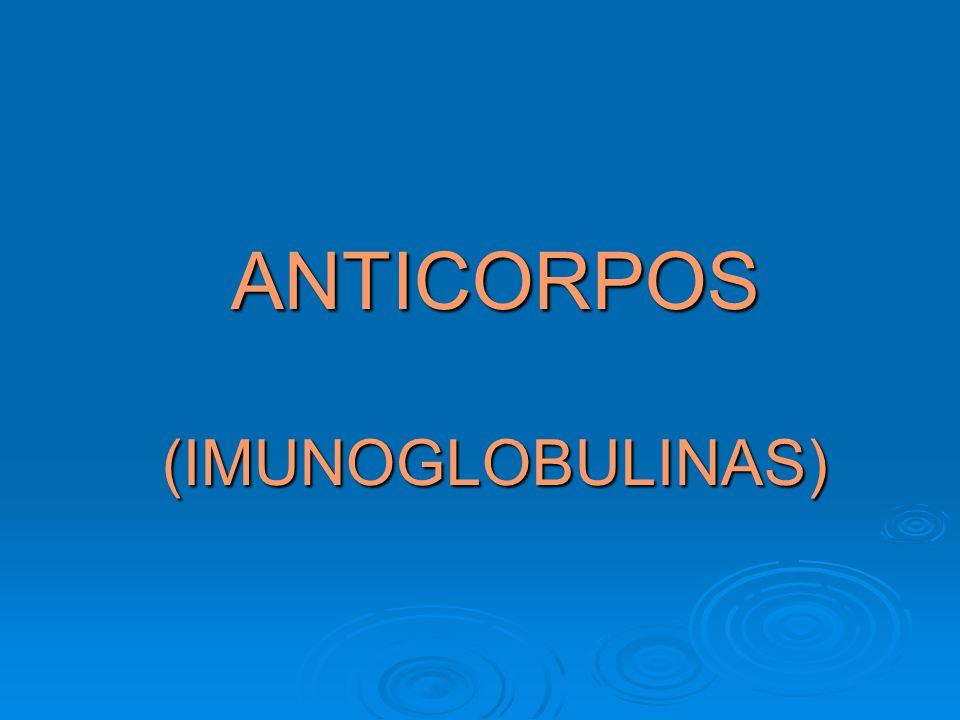 ANTICORPOS ESTRUTURAMOLECULAR: Glicoproteinas séricas da fração gamaglobulina.