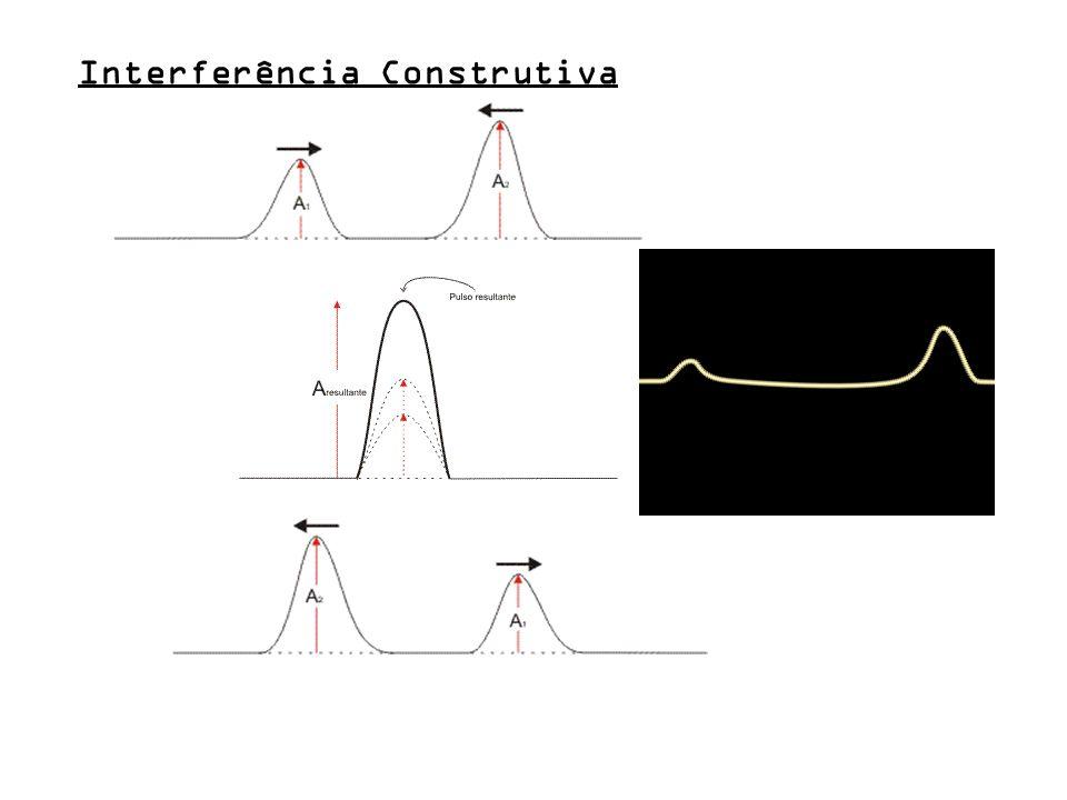 Conceito de interferência / superposição Cuba de ondas