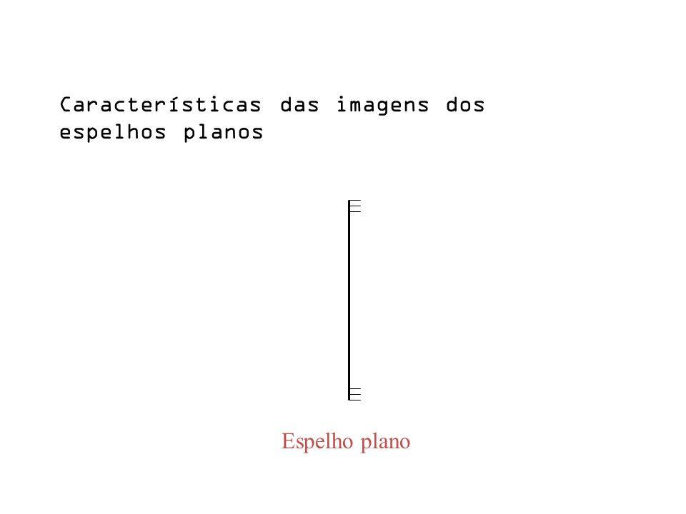 Espelho plano Características das imagens dos espelhos planos
