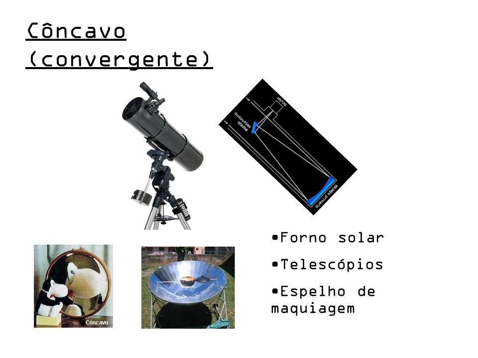 Forno solar Telescópios Espelho de maquiagem Côncavo (convergente)
