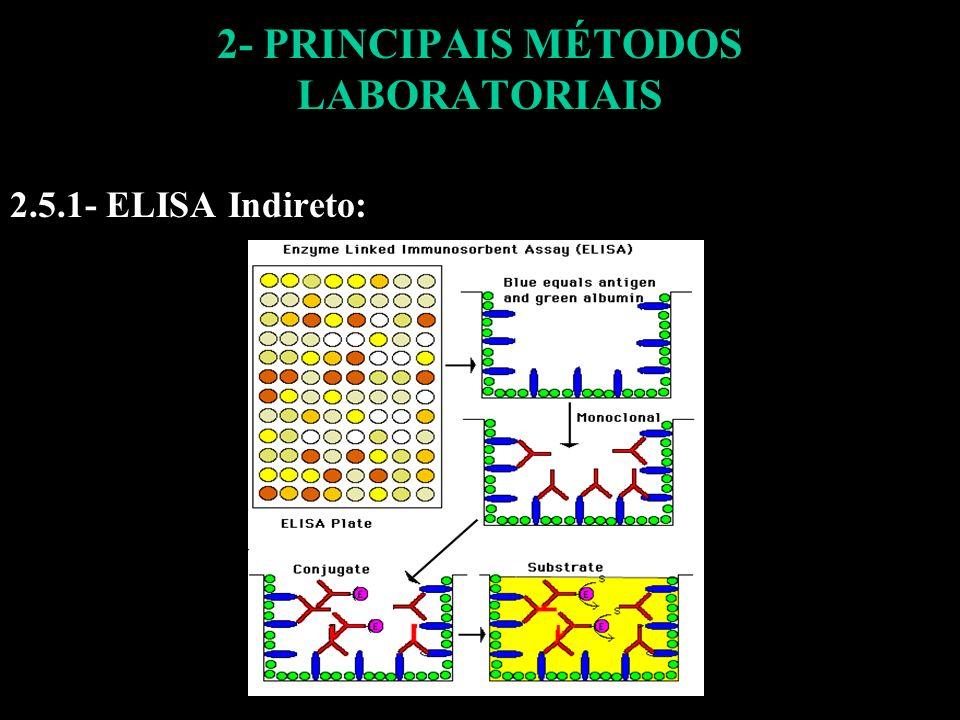 2- PRINCIPAIS MÉTODOS LABORATORIAIS 2.5.1- ELISA Indireto: