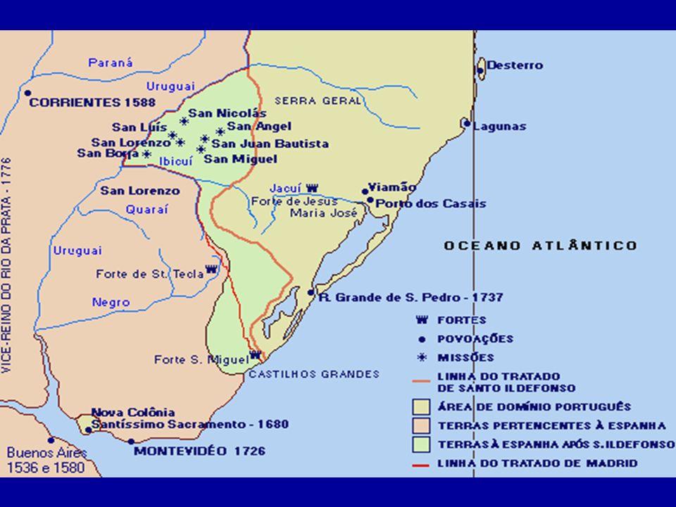 Os portugueses passaram a se interessar pela ocupação das terras entre o Sacramento e a Capitania de São Vicente.