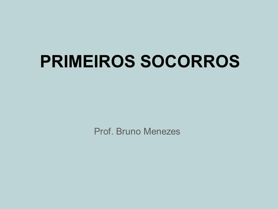 PRIMEIROS SOCORROS Prof. Bruno Menezes