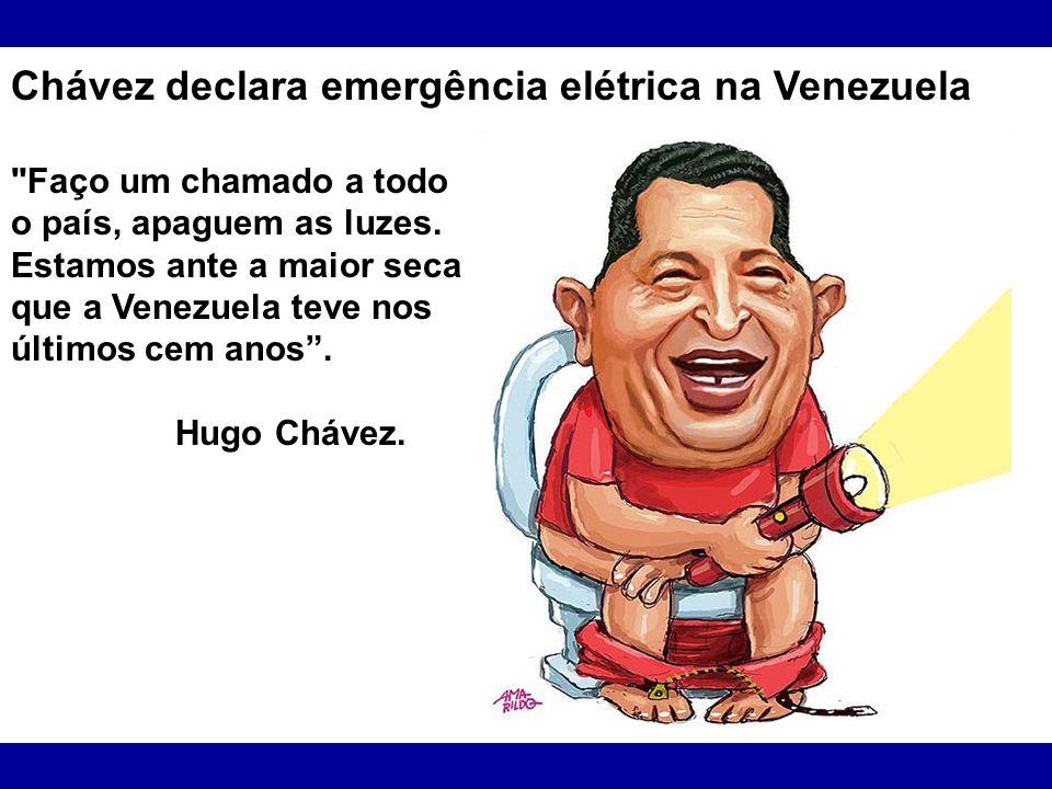 Chávez declara emergência elétrica na Venezuela