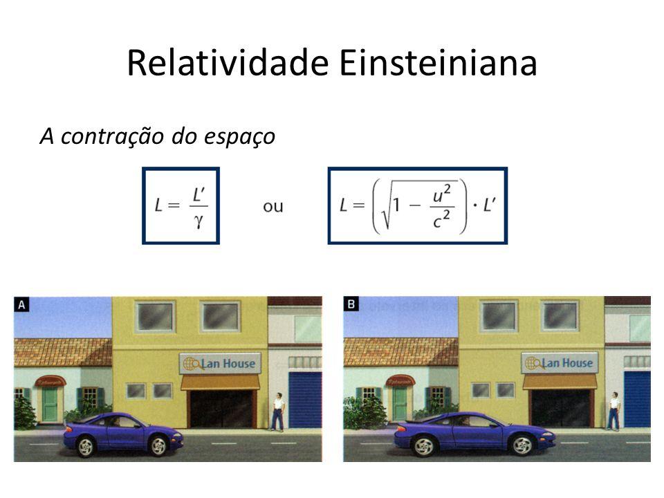 Relatividade Einsteiniana A contração do espaço