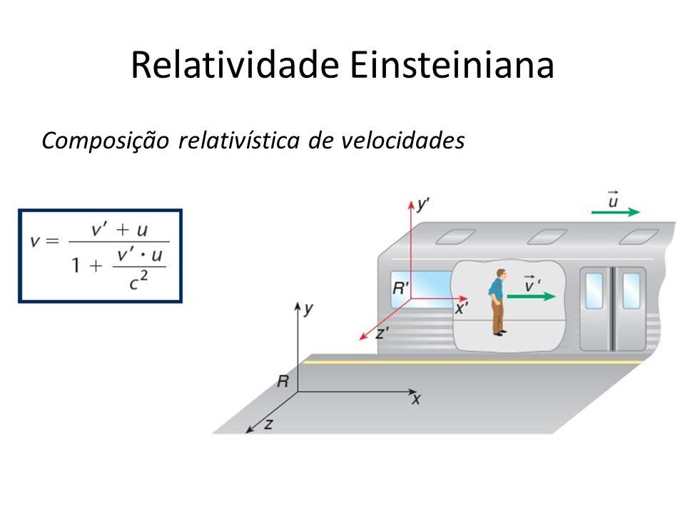 Relatividade Einsteiniana Composição relativística de velocidades