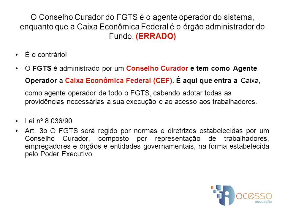 Os recursos do FGTS são compostos, dentre outras origens, pelos saldos das contas vinculadas de cada empregado, por dotações orçamentárias, bem como dos resultados das aplicações dos recursos do FGTS.
