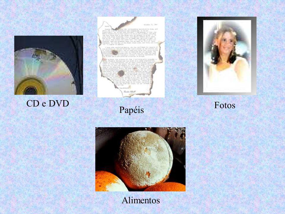 CD e DVD Papéis Fotos Alimentos