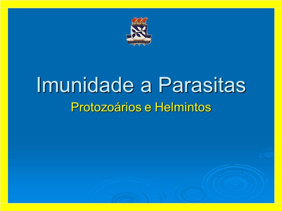 Características Gerais Helmintos e Protozoários – usualmente são agrupados como parasita, são agentes extremamente diferentes entre si em termos de estrutura, composição antigênica, localização no hospedeiro e mecanismos patogênicos.