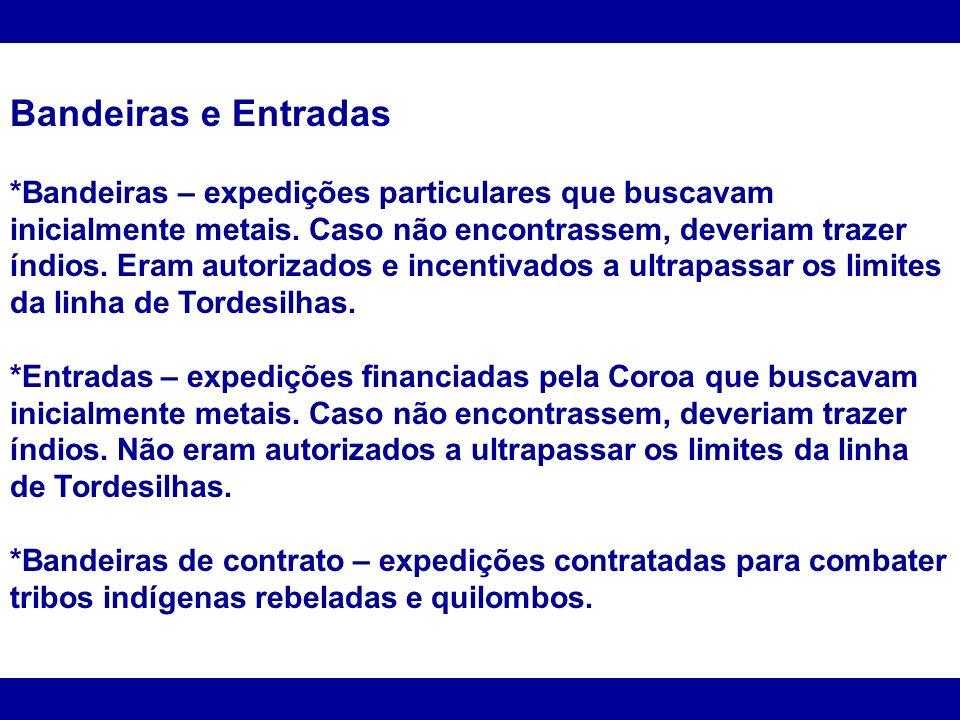 Mineração *Séculos XVII e XVIII.*Minas Gerais, Goiás, Mato Grosso e Bahia.