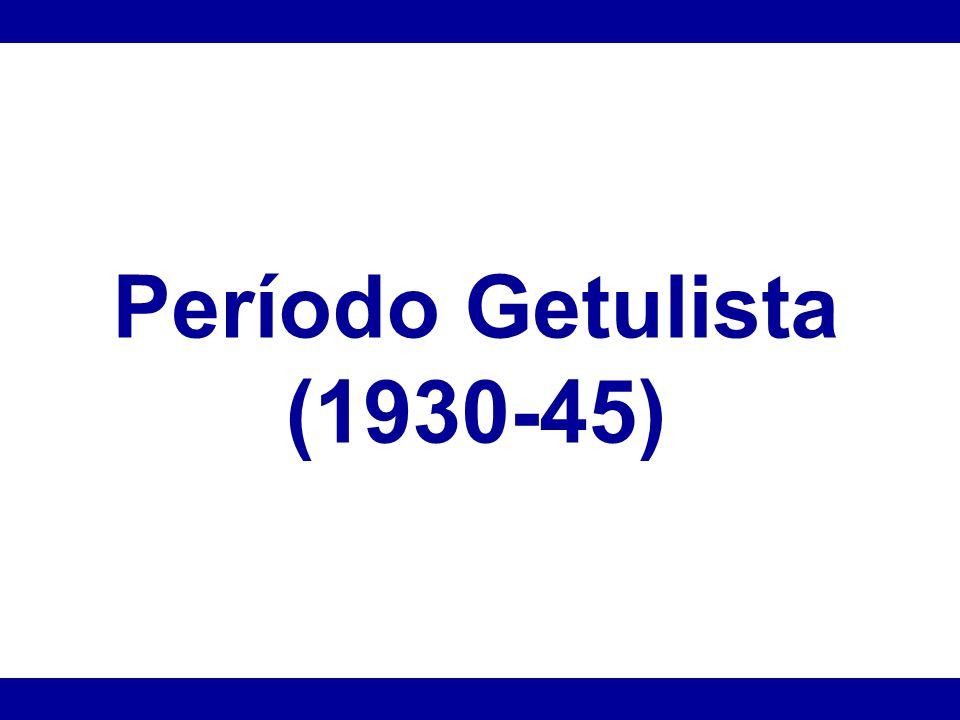 Governo Provisório ou Revolucionário (1930-34) Deposição de Washington Luís Inicia-se o Governo Provisório.