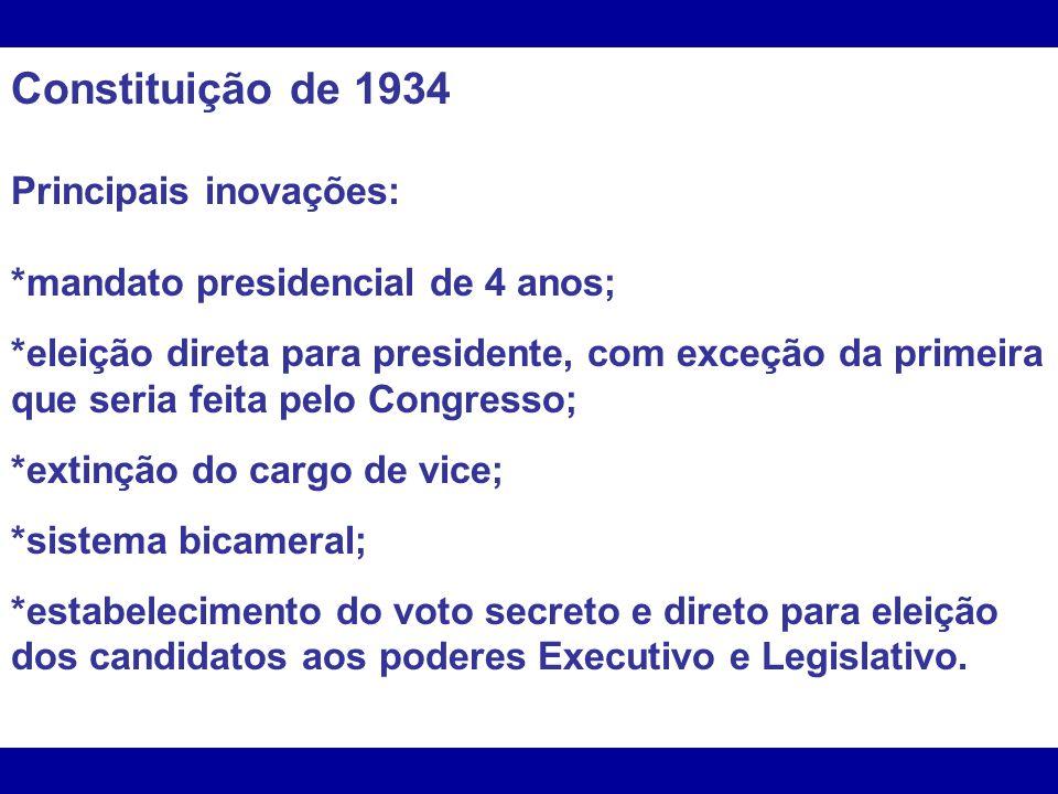 *Perda de autonomia dos Estados, governados por interventores indicados pessoalmente por Vargas; *Subordinava os sindicatos ao governo, por meio do Ministério do Trabalho.