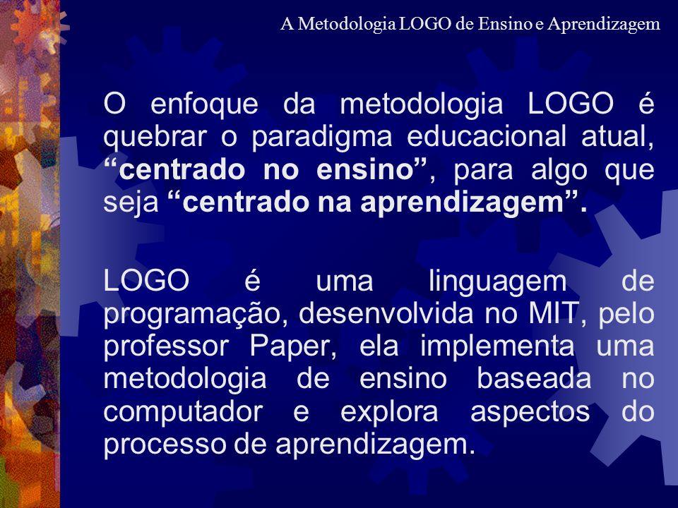 O enfoque da metodologia LOGO é quebrar o paradigma educacional atual, centrado no ensino, para algo que seja centrado na aprendizagem. LOGO é uma lin