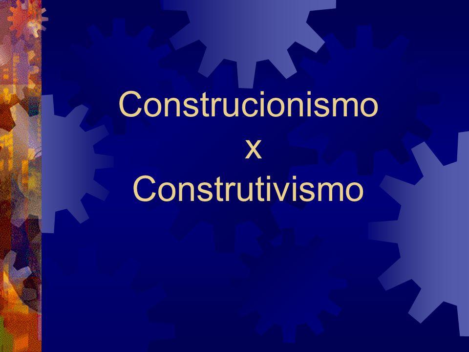 Construcionismo x Construtivismo