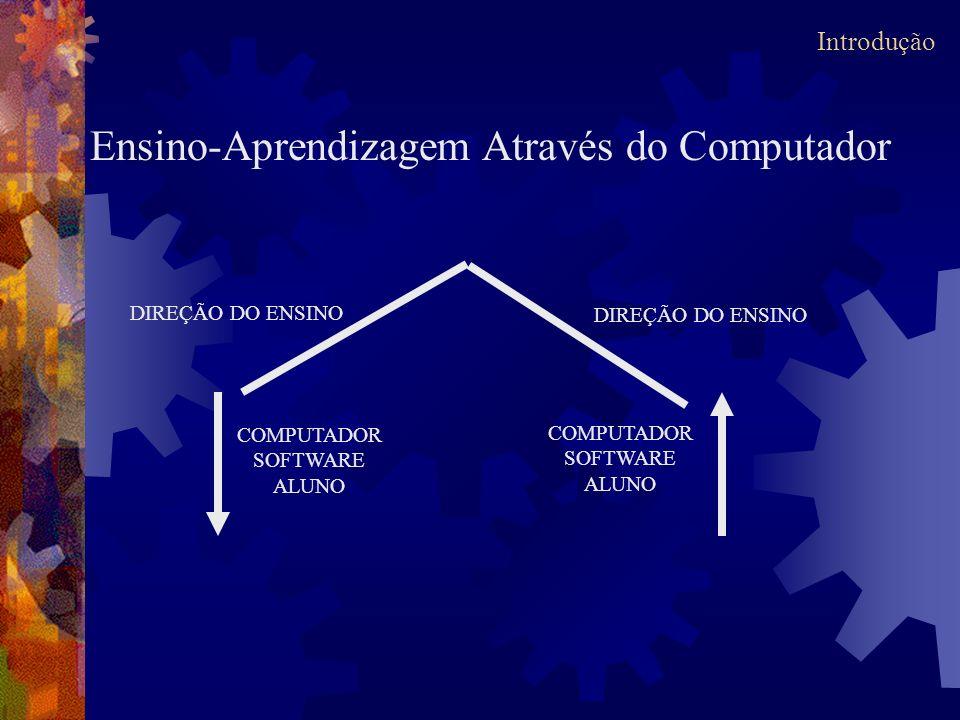COMPUTADOR SOFTWARE ALUNO COMPUTADOR SOFTWARE ALUNO DIREÇÃO DO ENSINO Ensino-Aprendizagem Através do Computador Introdução