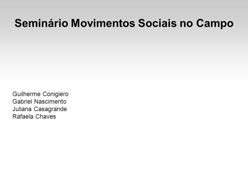 Seminário Movimentos Sociais no Campo Guilherme Conigiero Gabriel Nascimento Juliana Casagrande Rafaela Chaves