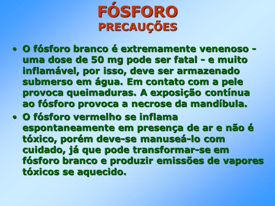FÓSFORO ROCHA FOSFÁTICA São minerais constituídos por alguns compostos complexos de fósforo, como a fluoropatita, CaF 2.3Ca 3 (PO 4 ) 2.São minerais constituídos por alguns compostos complexos de fósforo, como a fluoropatita, CaF 2.3Ca 3 (PO 4 ) 2.